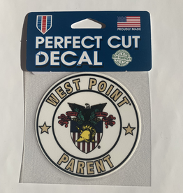 Round West Point Parent Decal, New, (4 x 4)