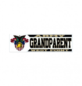 "Army/West Point GRANDPARENT Decal (3"" x 10"")"