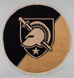 Graduation Year/Round West Point Hand Knotted Carpet, 3 x 3 feet