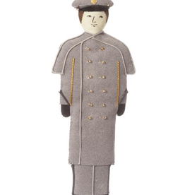 Male/Caucasian/Gray Overcoat/ Cadet  Ornament (St. Nicholas)