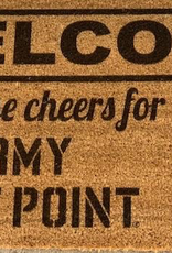 """Welcome Mat (""""This House Cheers For Army West Point"""") 18 x 30"""
