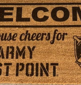 "Welcome Mat (""This House Cheers For Army/West Point"") 18 x 30"