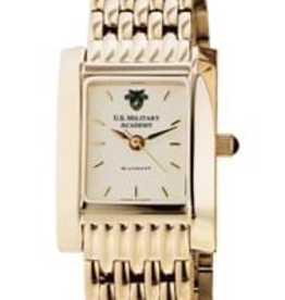 West Point Women's Gold Quad Watch with Bracelet