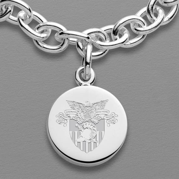 West Point Sterling Silver Charm Bracelet