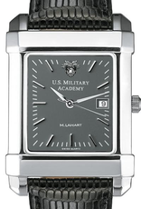 West Point Men's Steel Quad Gray Dial Watch with Leather