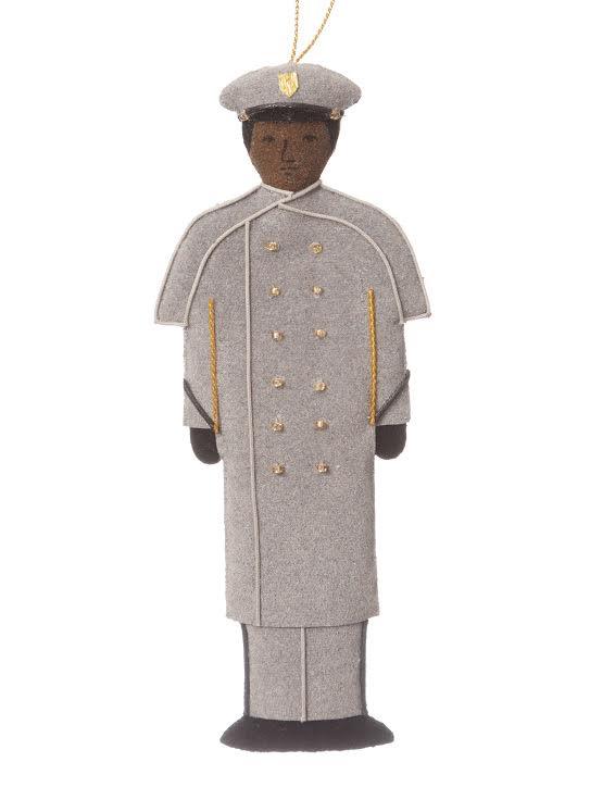 Male/GRAY OVERCOAT/Cadet Ornament/(St. Nicholas)