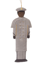 Female/African American/GRAY OVERCOAT/ Cadet Ornament (St. Nicholas)
