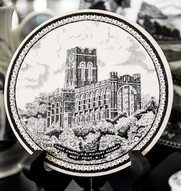 Trivet, West Point China, Cadet Chapel (Black)