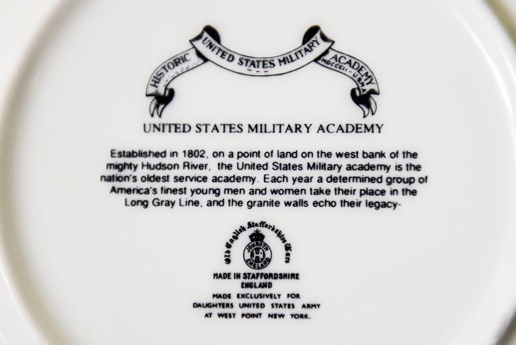 Trivet, West Point China, Cadet Chapel (Black)