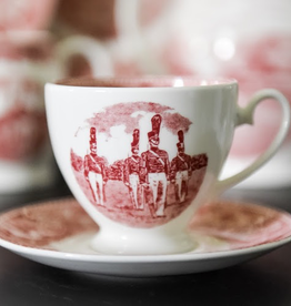 Cup and Saucer (West Point China) in Rose