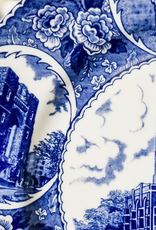 Five Scene West Point China Dinner Plate in Blue