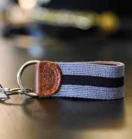 Cadet Gray Needlepoint Key Fob (Smathers and Branson)