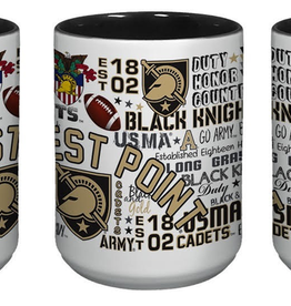 West Point All-Over Post/Map Wrap Mug, 15oz.