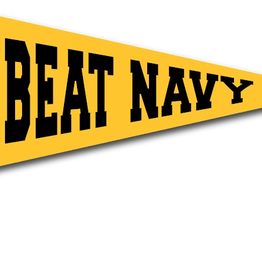 """Beat Navy"" Pennant On A Stick"
