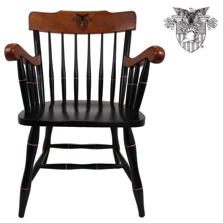 West Point Captains Chair: Cherry Chair/Cherry Arms