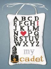 "ABC Sampler ""I Love My Cadet"" Cross Stitch Kit (Posy Colllection)"