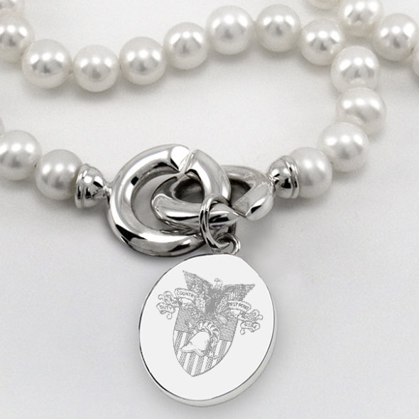 West Point Pearl Necklace with USMA Crest Silver Charm (Special Order)