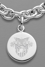 West Point Sterling Silver Charm Bracelet (Special Order)