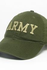 Green Twill ARMY Baseball Cap (Embr/Straw)