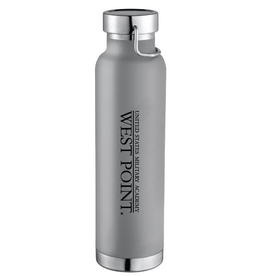 West Point Insulated Water Bottle, Gray, 22 ounce