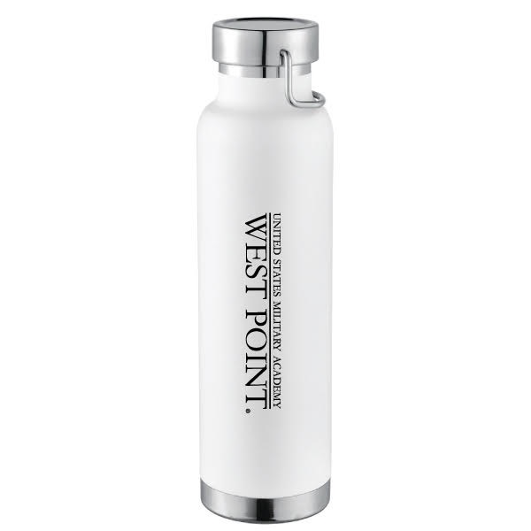 West Point Insulated Water Bottle, White, 22 ounce