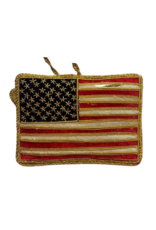 Embroidered American Flag Ornament (St. Nicholas Ornament)
