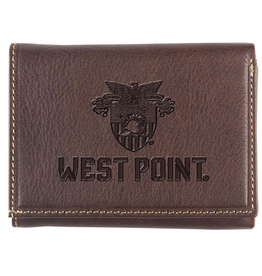 Trifold West Point/Crest Wallet (Brown)