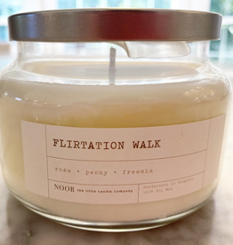 """Flirtation Walk"" Hand-Poured Soy Candle, 10 ounce (Rose, Peony and Freesia)"