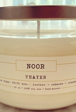 """""""Thayer"""" Hand-Poured Soy Candle,10 ounce, (Leather, Oakmoss, Orange)"""
