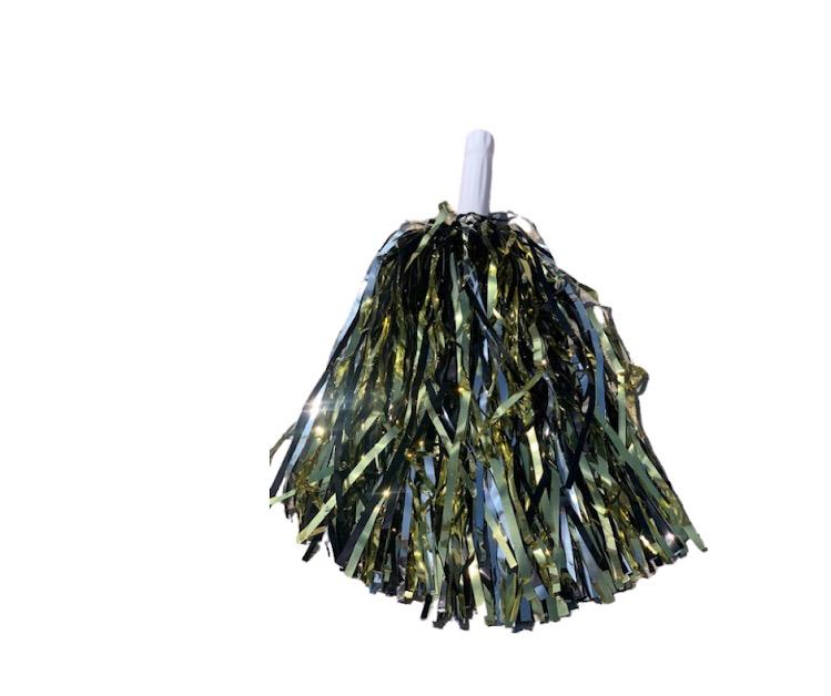 Shimmer Pom-Pom (Black/Silver/Gold)
