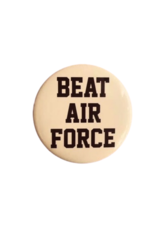 """""""BEAT AIR FORCE"""" Button (Pins On)"""