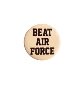 """BEAT AIR FORCE"" Button (Pins On)"