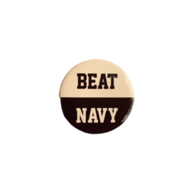 """BEAT NAVY"" Button (Pins On)"