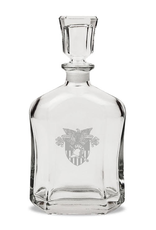 USMA Crest Crystal Whiskey Decanter (23.75 Ounces, 10.5 Inches High)