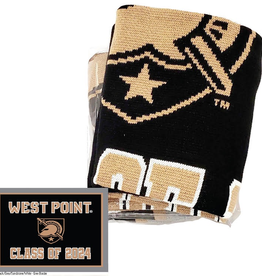 "SOLD OUT TODAY! West Point Class of 2024 Knit Blanket (63"" x 53"")"