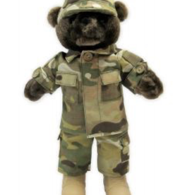 U.S. Army Camo Male Teddy Bear (10 inch)