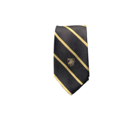 West Point Silk Striped Tie with Athletic Shield