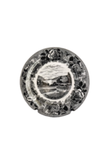 Trophy Point West Point China Dinner Plate in Gray/Black