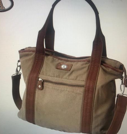 """Tucker Canvas Tote with Block """"A"""""""