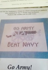 Go Army! Beat Navy! Cannon Cross Stitch ( The Posy Collection)