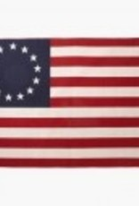 """Betsy Ross Woolen Flag Blanket (Faribault Mills) 50""""x72"""""""
