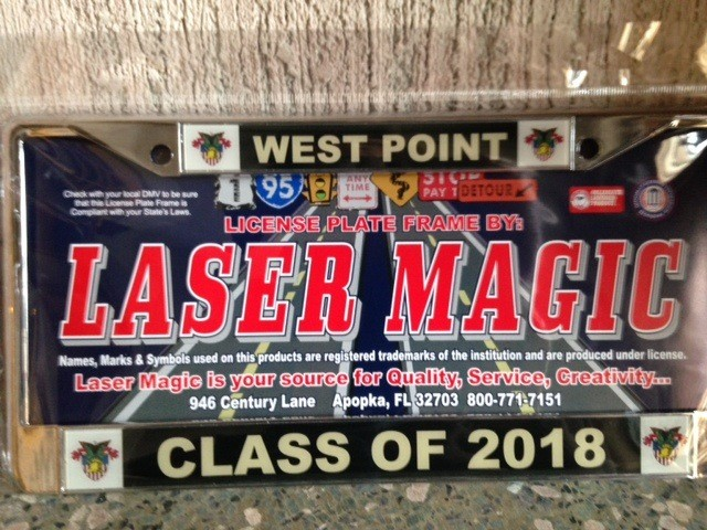 Class of 2018 Glossy License Plate Frame