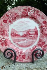 Trophy Point China Dinner Plate in Rose