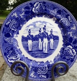 """Duty, Honor, Country""West Point China Dinner Plate in Blue"