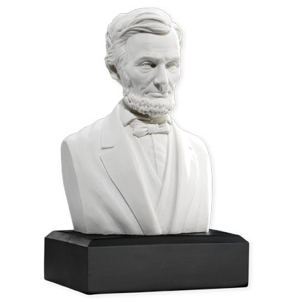 Lincoln Bust (6 Inch/White)