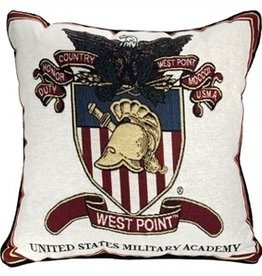 West Point Crest Pillow (17 x 17)