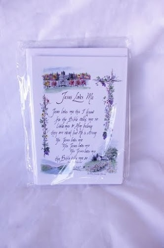 """""""Jesus Loves Me"""" Notecards (Six Cards and Envelopes)"""