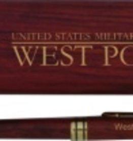 Wooden Pen Set, USMA, West Point, Rosewood Box
