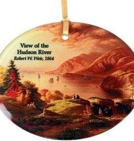 Hudson River View Glass Ornament (Museum Masterworks)