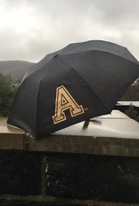 "Black Umbrella with Block ""A"" (43"" Arch)"